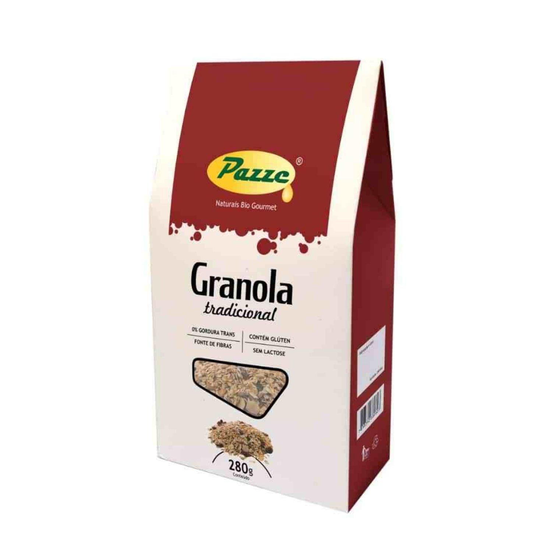 Granola Tradicional Pazze 280g Sem Lactose
