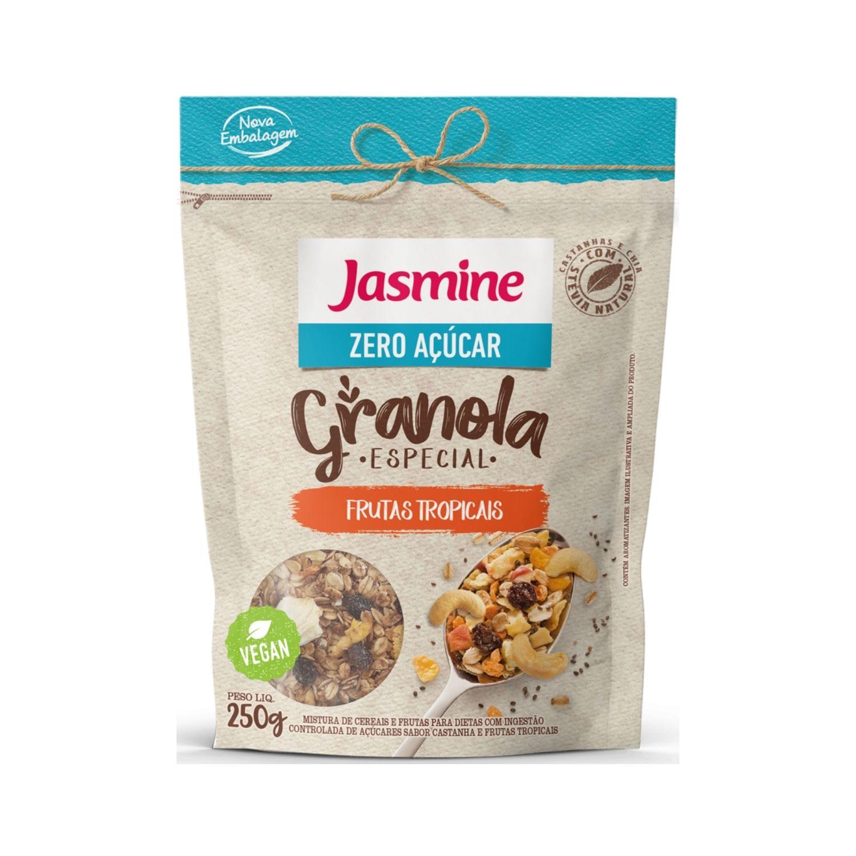 Granola Zero Açúcar Frutas Tropicais com Castanhas e Chia 250g Jasmine
