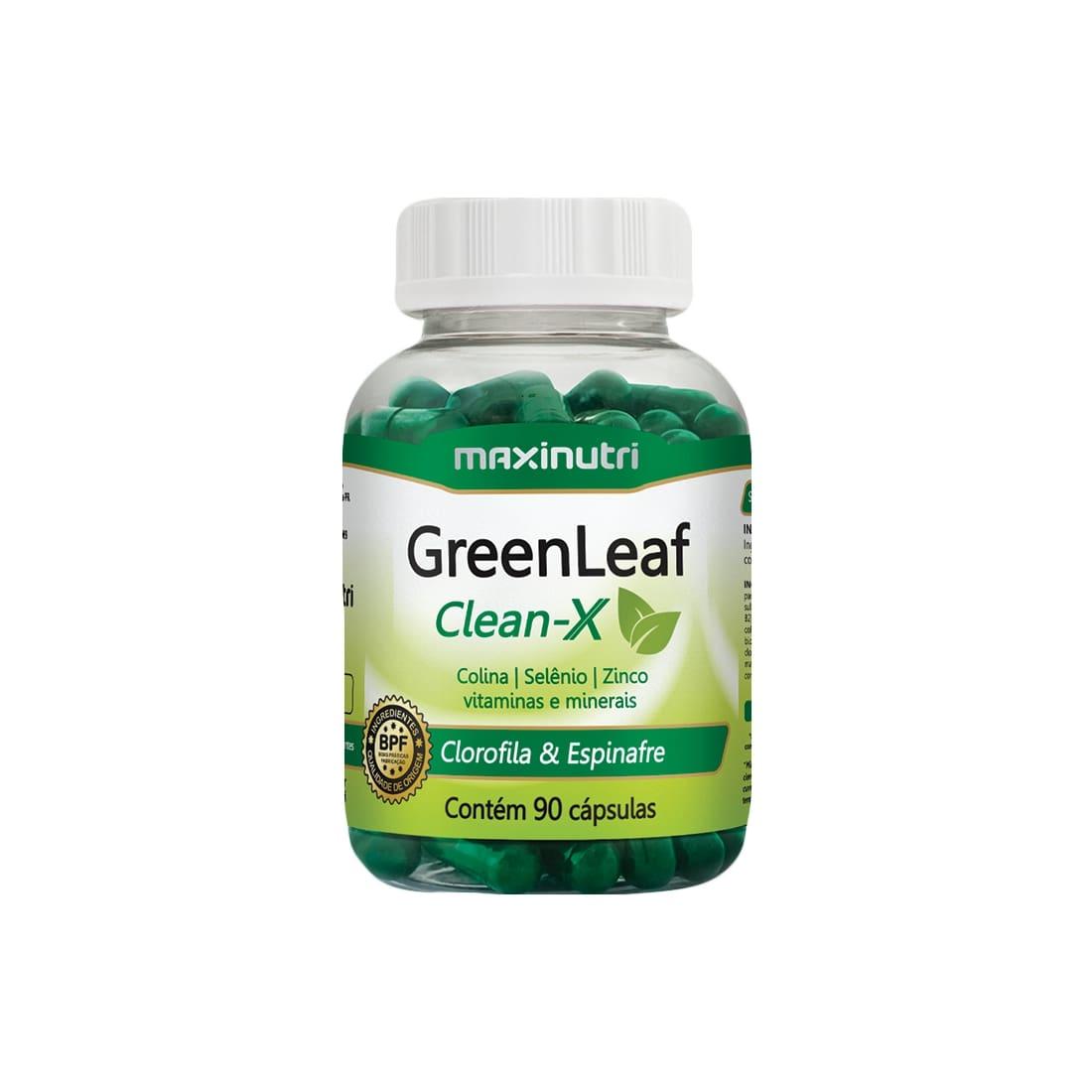 GreenLeaf Clean-X 90 Cápsulas Maxinutri