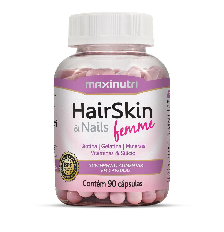 HairSkin & Nails Femme 500mg 90 Cápsulas Maxinutri