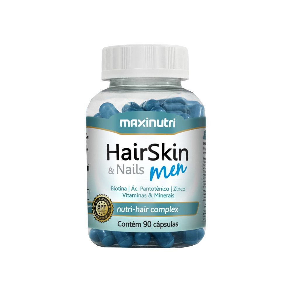 HairSkin & Nails Men 90 Cápsulas Maxinutri