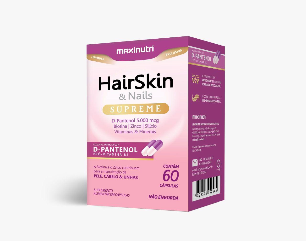 HairSkin & Nails Supreme 60 Cápsulas Maxinutri