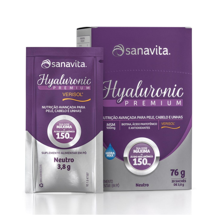 Hyaluronic Premium com Ácido Hialurônico + Colágeno Verisol 20 Sachês Sanavita