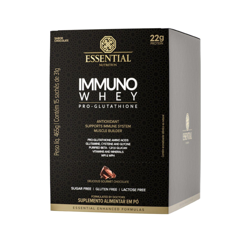 Immuno Whey Pro Glutathione Box 15 Sachês 31g Essential Nutrition