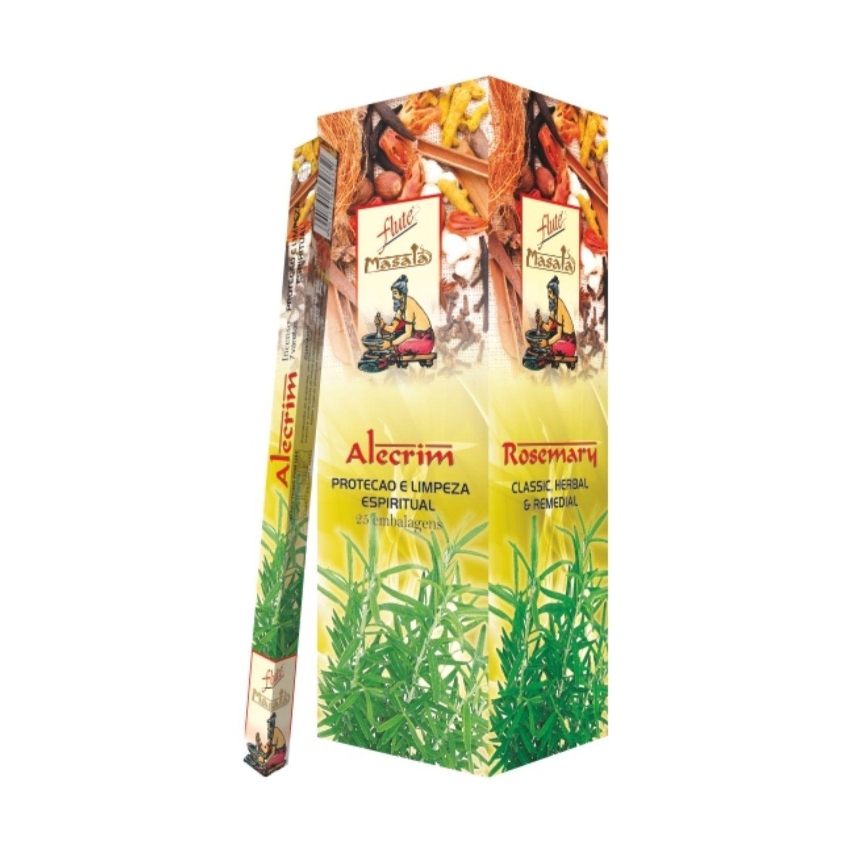 Incenso Masala Alecrim Flute Proteção e Limpeza Espiritual