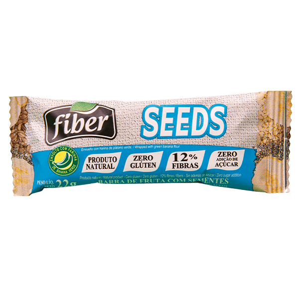 Kit 10 un Barra de Fruta Seeds linhaça gergelim 22g Fiber