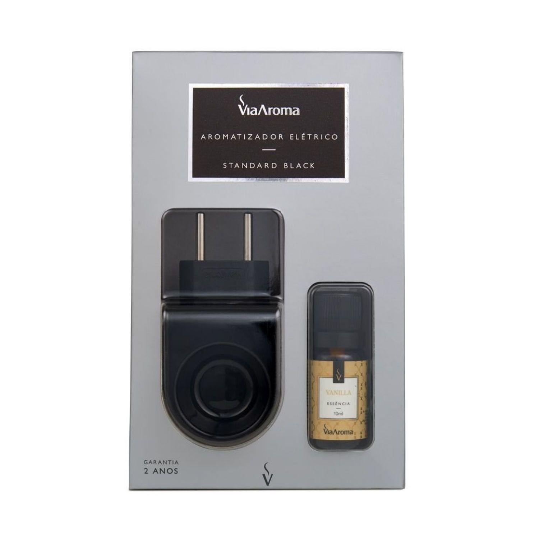 Kit Aromatizador Standard Black com Essência de Vanilla Via Aroma