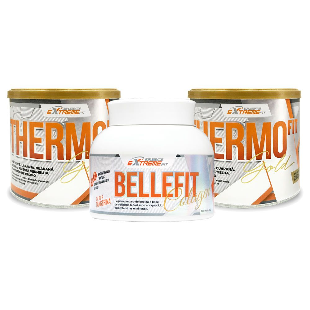 Kit Beleza em Forma 2x Thermo Fit 250g + 1x Belle Fit 250g - ExtremeFit