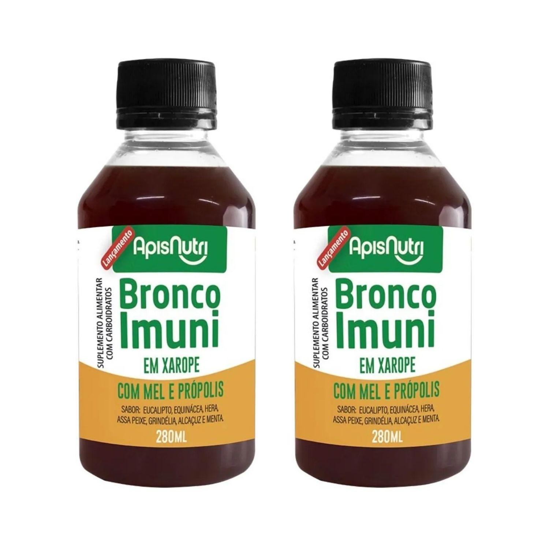 Kit com 2 Bronco Imuni com Mel e Própolis 280ml Apisnutri
