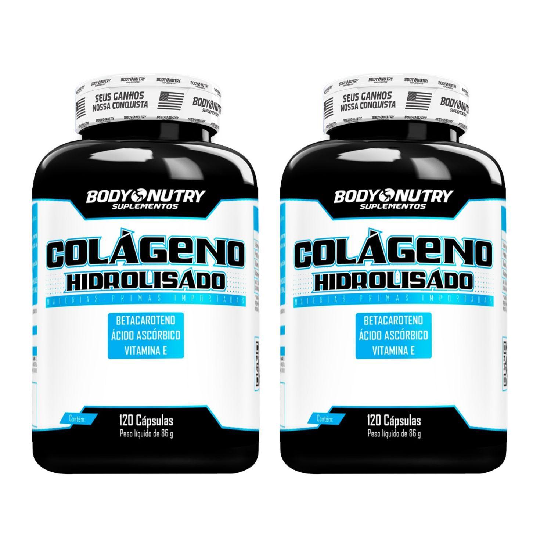 Kit com 2 Colágeno Hidrolisado 120 Cápsulas Body Nutry