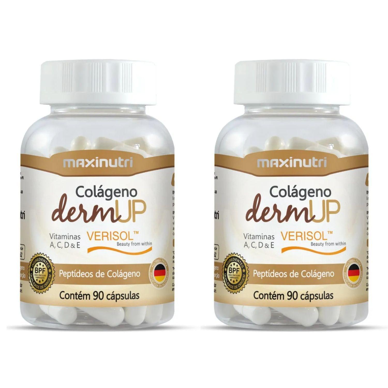 Kit com 2 Colágeno Hidrolisado DermUp Verisol 90 Cápsulas Maxinutri