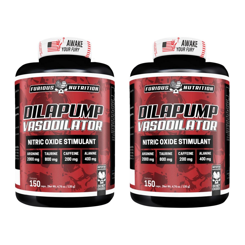 Kit com 2 Dilapump Vasodilatador 90 Cápsulas Furious Nutrition