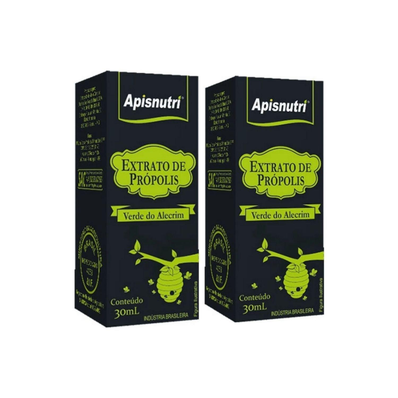 Kit com 2 Extrato de Própolis Verde 30ml Apisnutri