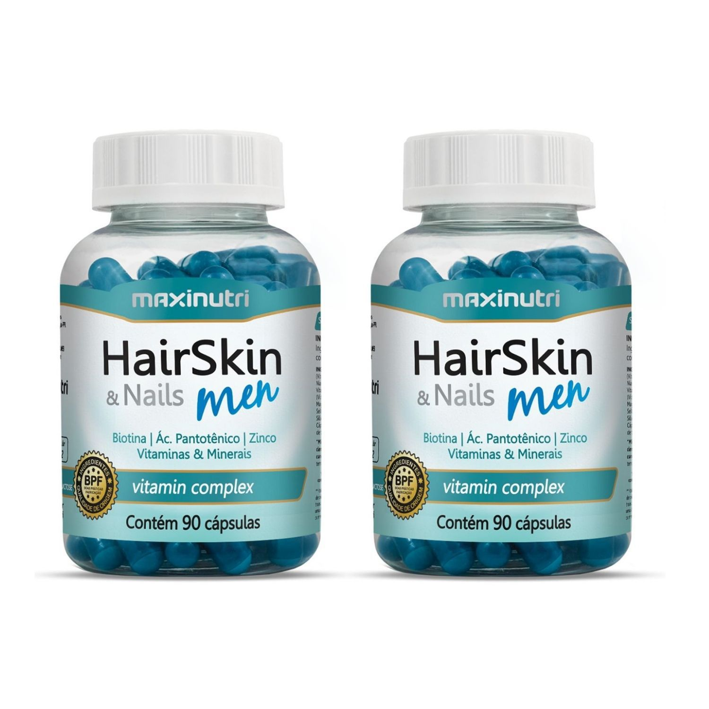 Kit com 2 HairSkin & Nails Men 90 Cápsulas Maxinutri