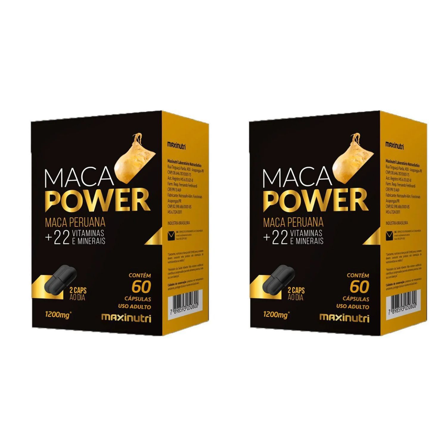 Kit com 2 Maca Power 60 Cápsulas Maxinutri