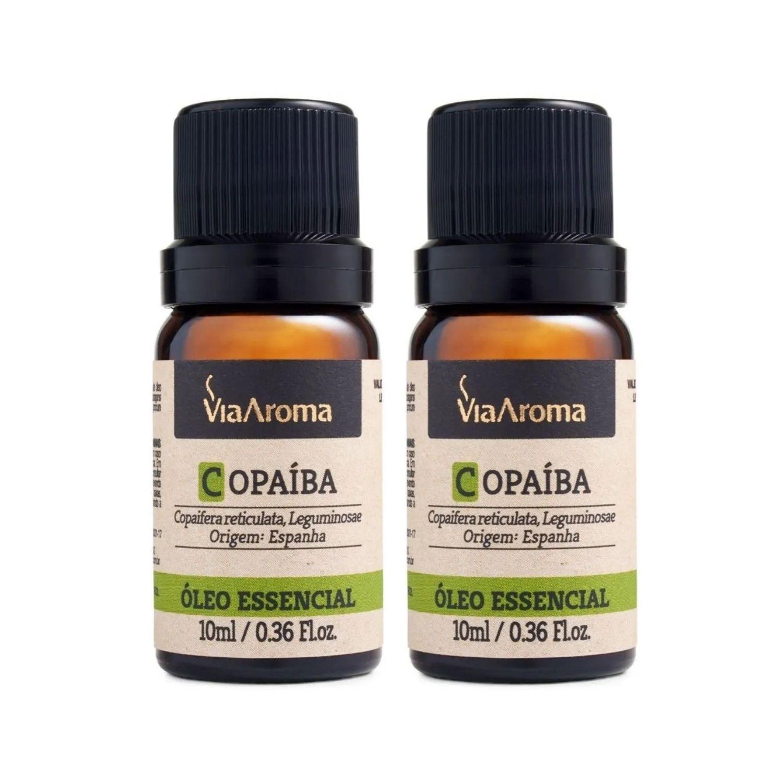 Kit com 2 Óleos Essenciais de Copaíba 10ml Via Aroma 100% Natural
