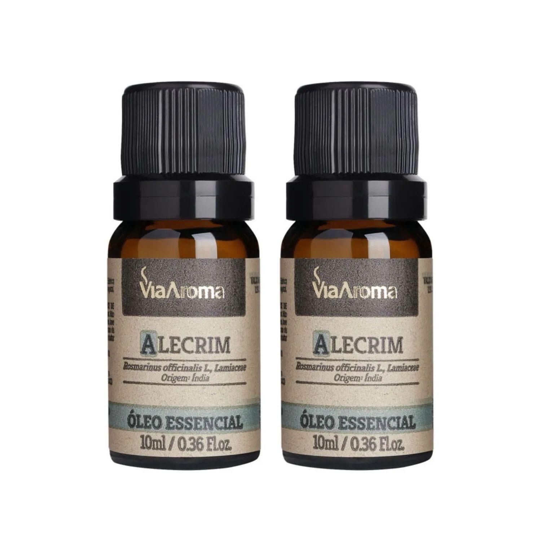 Kit com 2 Óleos Essenciais de Alecrim 10ml Via Aroma 100% Natural