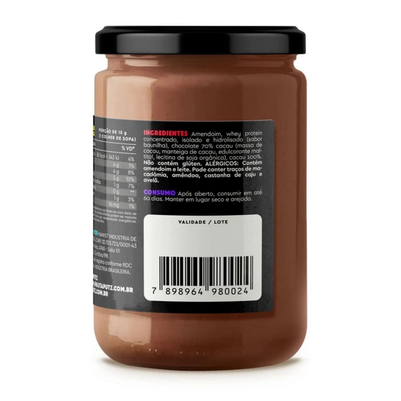 Kit com 2 Pastas de Amendoim Putz! Chocolate Brownie com Whey Protein 600g