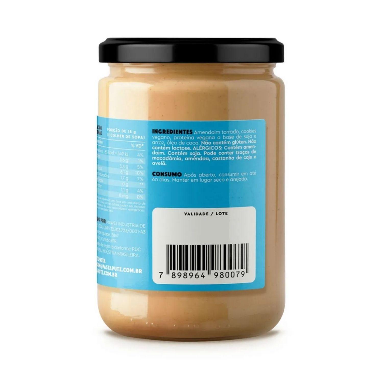 Kit com 2 Pastas de Amendoim Vegana Putz! Cookies & Cream 600g