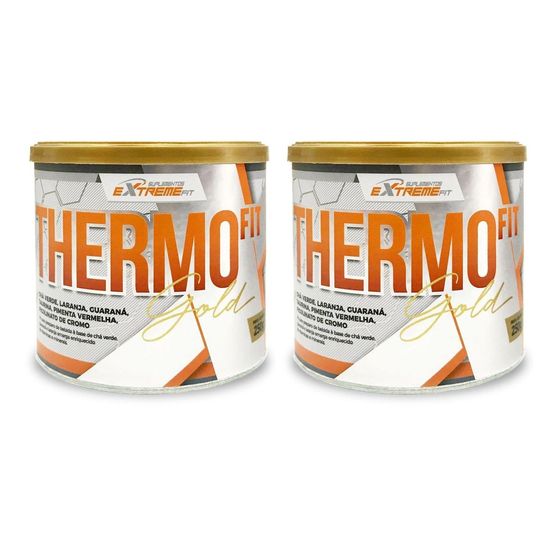 Kit com 2 THERMO Fit 100% Natural Termo e Diurético 250g ExtremeFit Sabor Frutas Cítricas