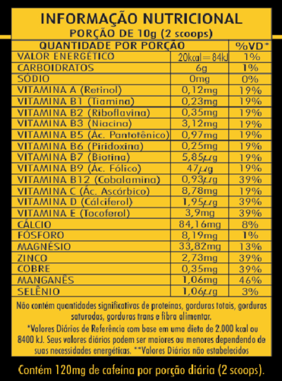 Kit com 2 Tribus Cafein Efervescente 200g Nutry Power