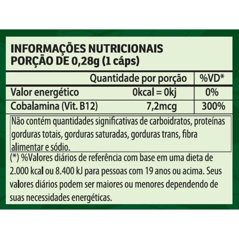 Kit com 2 Vitamina B12 60 Cápsulas Apisnutri