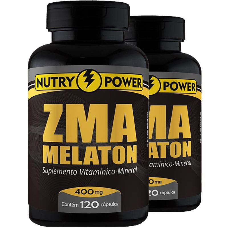 Kit com 2 ZMA Melaton 120 Cápsulas Nutry Power