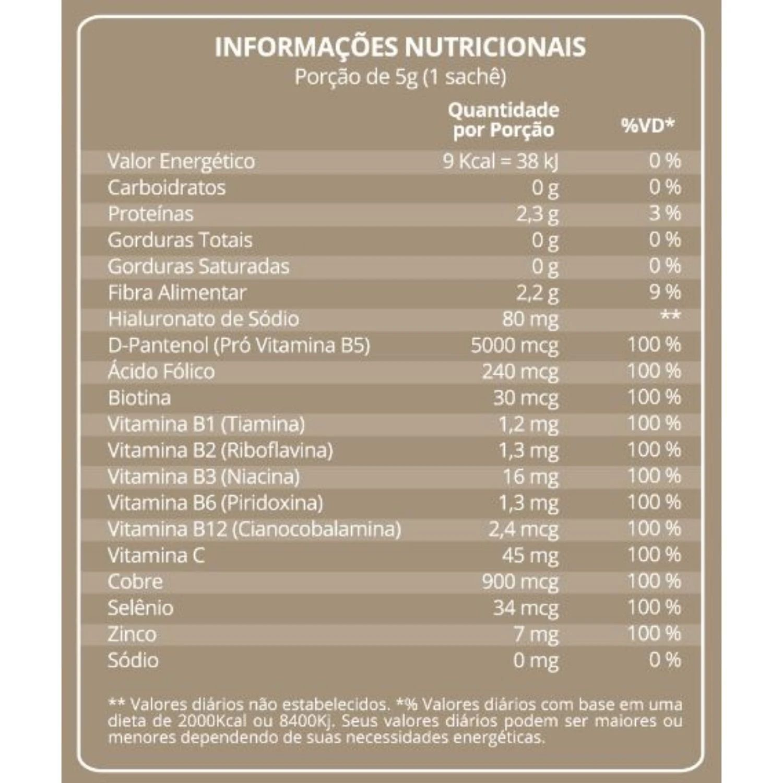 Kit com 3 Colágeno Hidrolisado DermUp Supreme Verisol e D-Pantenol 30 Sachês Maxinutri