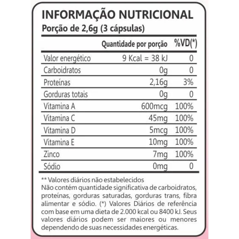 Kit com 3 Colágeno Hidrolisado Femme 90 Cápsulas Maxinutri