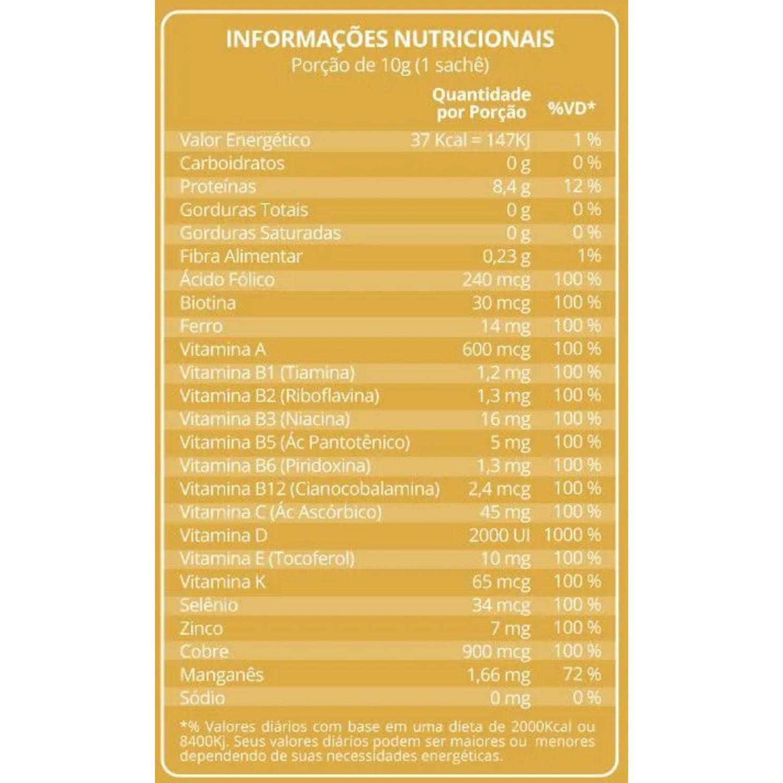 Kit com 3 Condrigen Artro Colágeno Tipo I e II  30 Sachês Maxinutri Sabor Frutas Amarelas