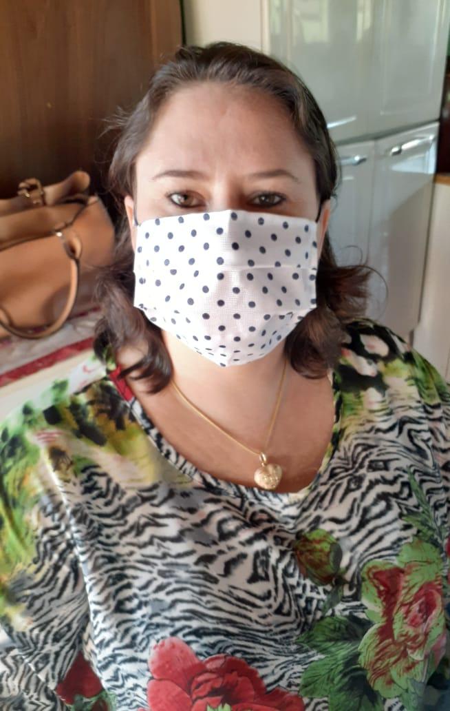 Kit com 3 Máscaras de Proteção Tricoline Lúdicas Poá Reutilizáveis