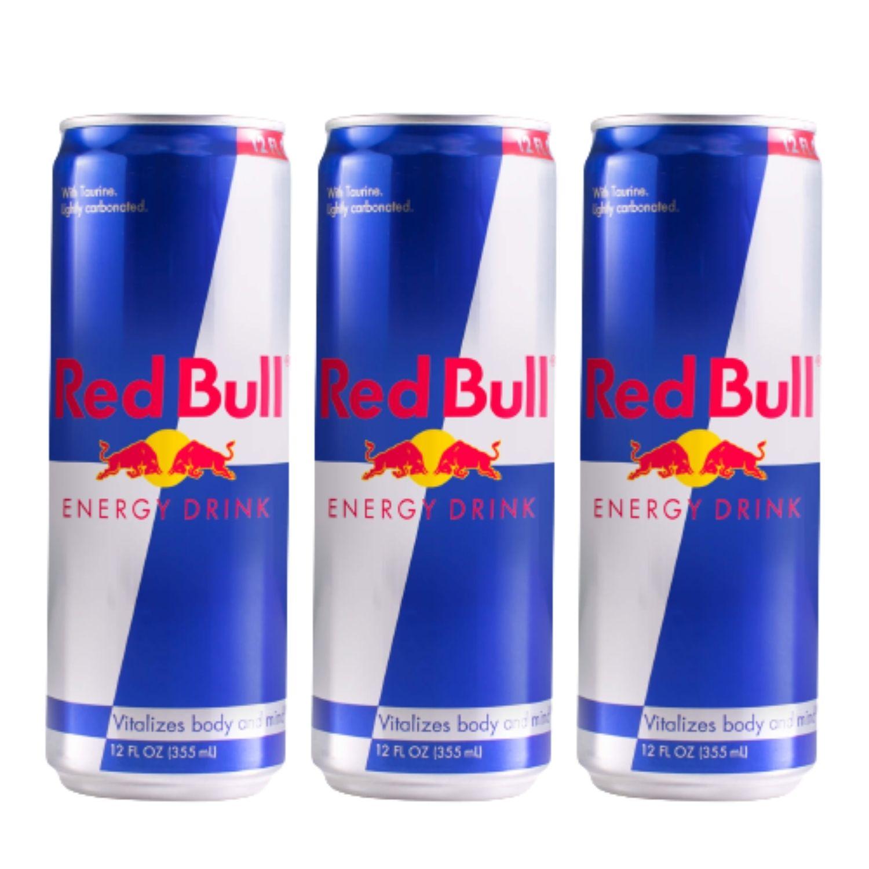 Kit com 3 Red Bull Energy Drink 250ml