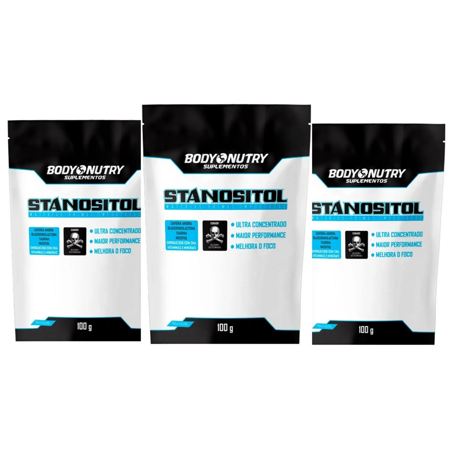 Kit com 3 Stanositol Refil 100g Body Nutry