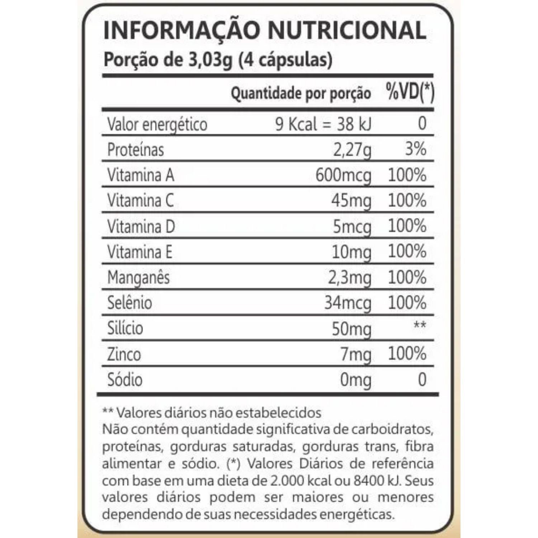 Kit com 4 Colágeno Hidrolisado DermUp Verisol 90 Cápsulas Maxinutri