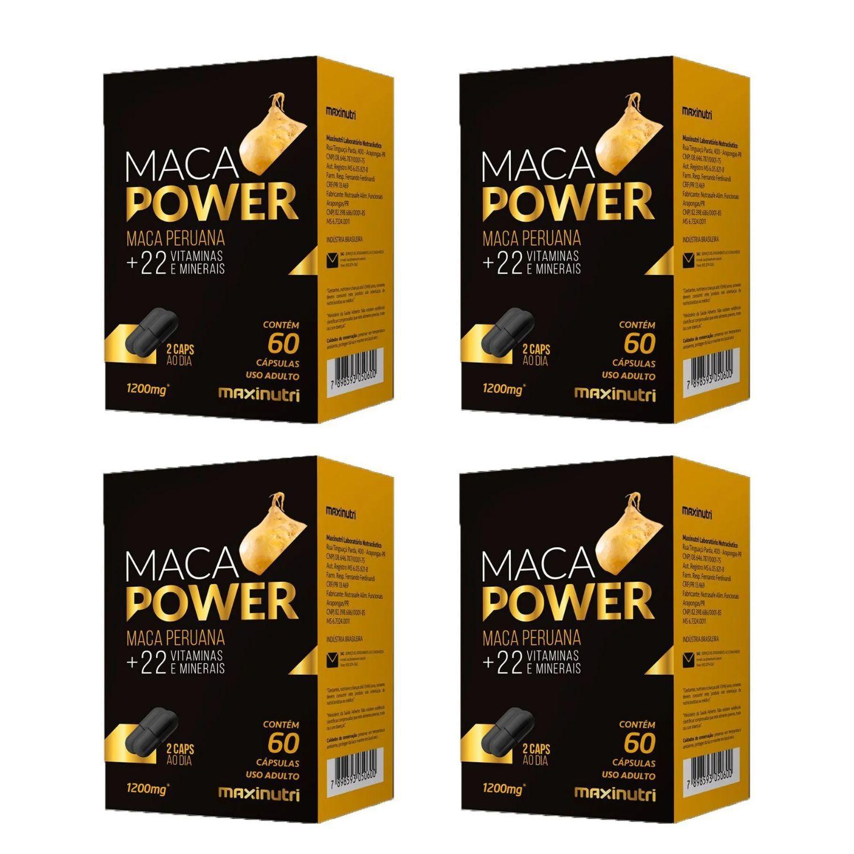Kit com 4 Maca Power 60 Cápsulas Maxinutri