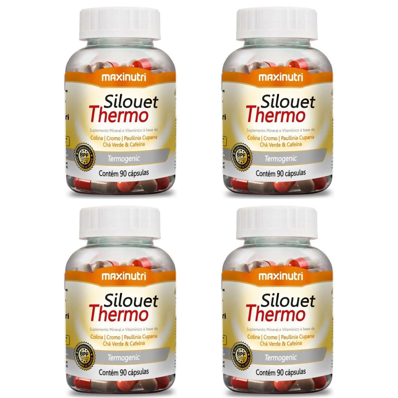 Kit com 4 Silouet Thermo 90 Cápsulas Maxinutri