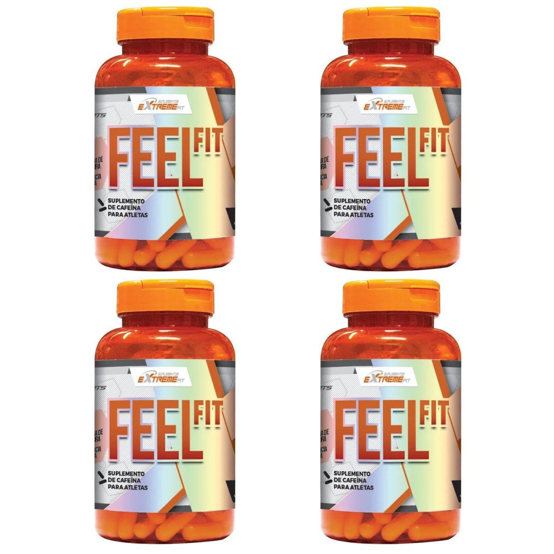 Kit com 4 Termogênico Feel Fit 60 Cápsulas - ExtremeFit