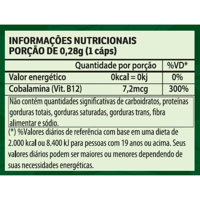 Kit com 4 Vitamina B12 60 Cápsulas Apisnutri