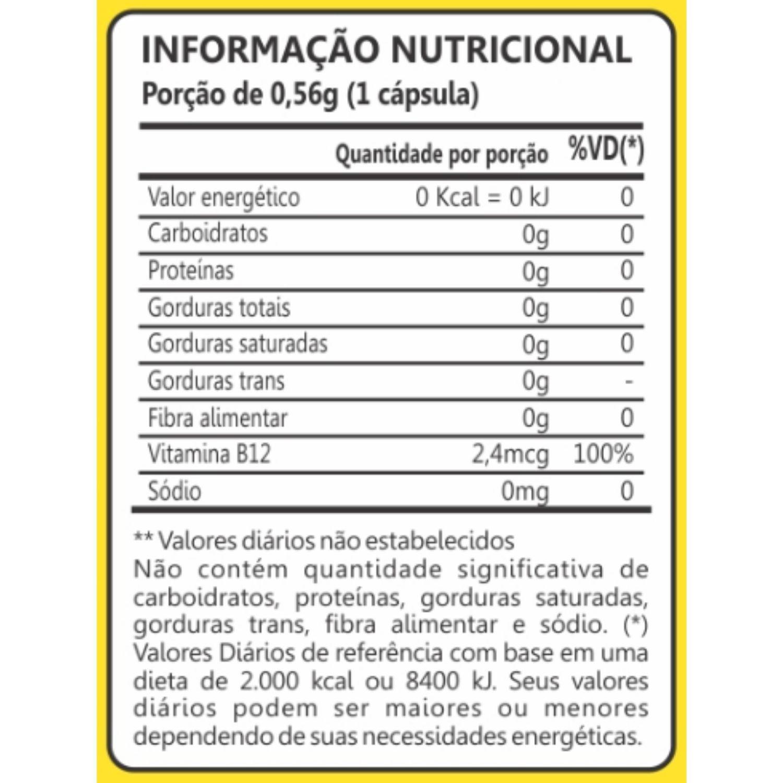 Kit com 4 Vitamina B12 60 Cápsulas Maxinutri