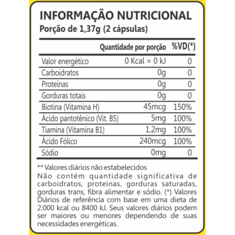 Kit com 5 Biotina 60 Cápsulas Maxinutri