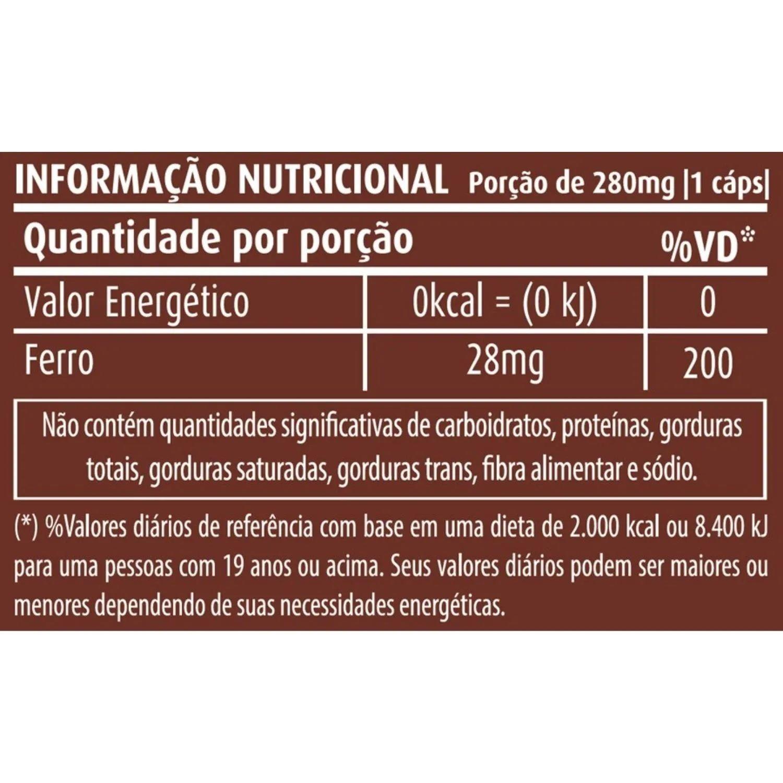 Kit com 5 Ferro 60 Cápsulas Apisnutri