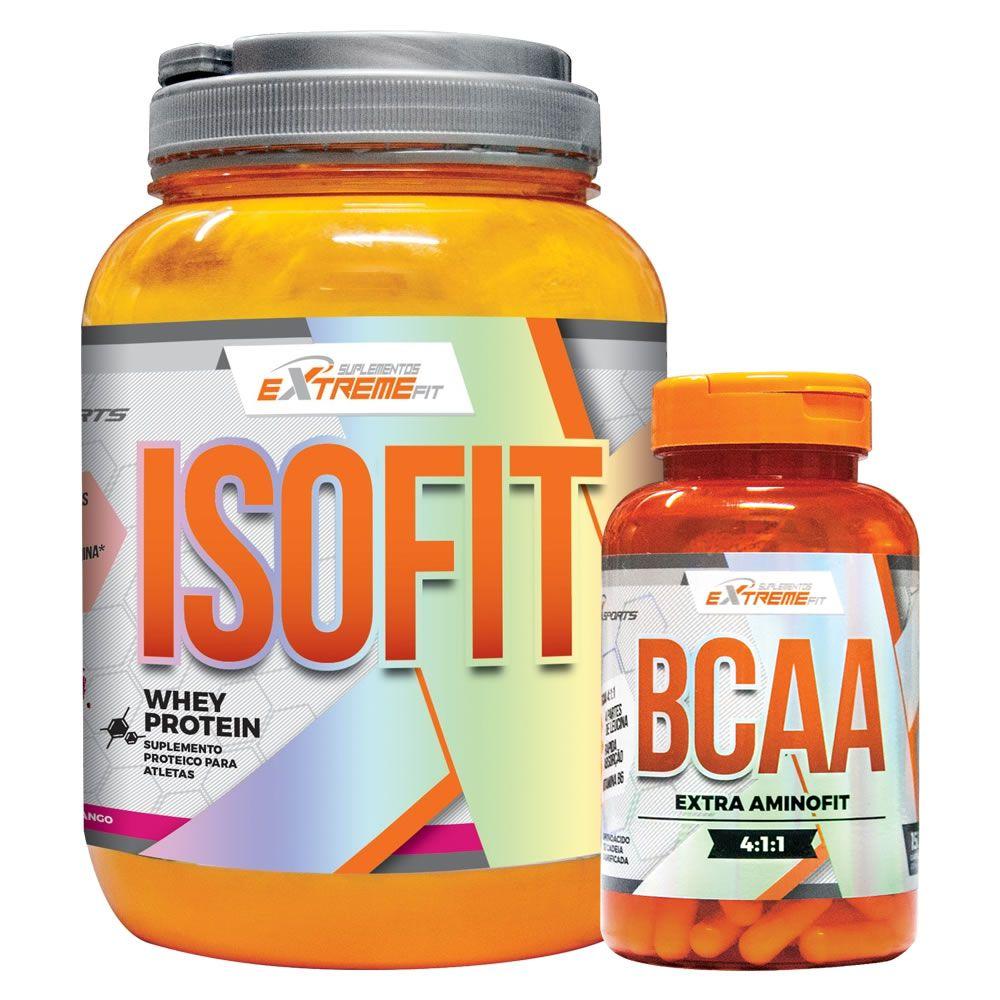 Kit Massa Muscular Isofit 900g + Amino Fit 150 Cápsulas - ExtremeFit