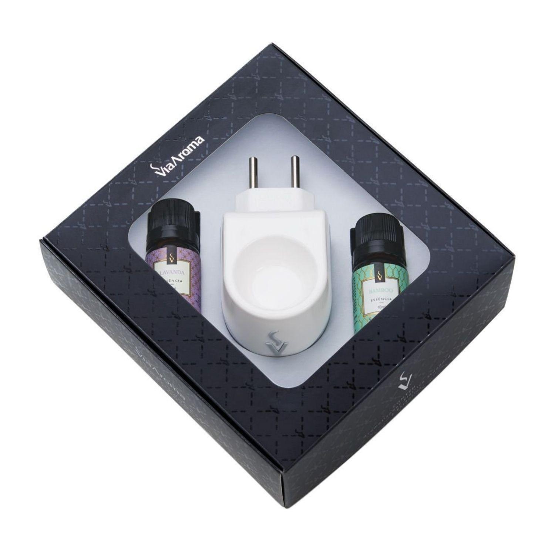 Kit Presente Aromatizador Standard com Essências de Bamboo e Lavanda Via Aroma