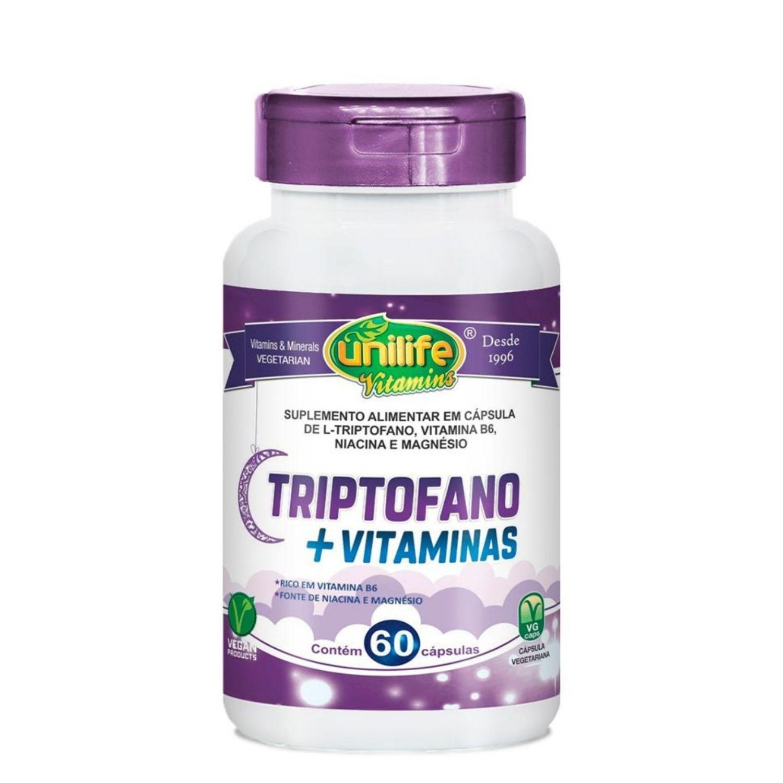 L-Triptofano + Vitaminas 400mg 60 Cápsulas Unilife