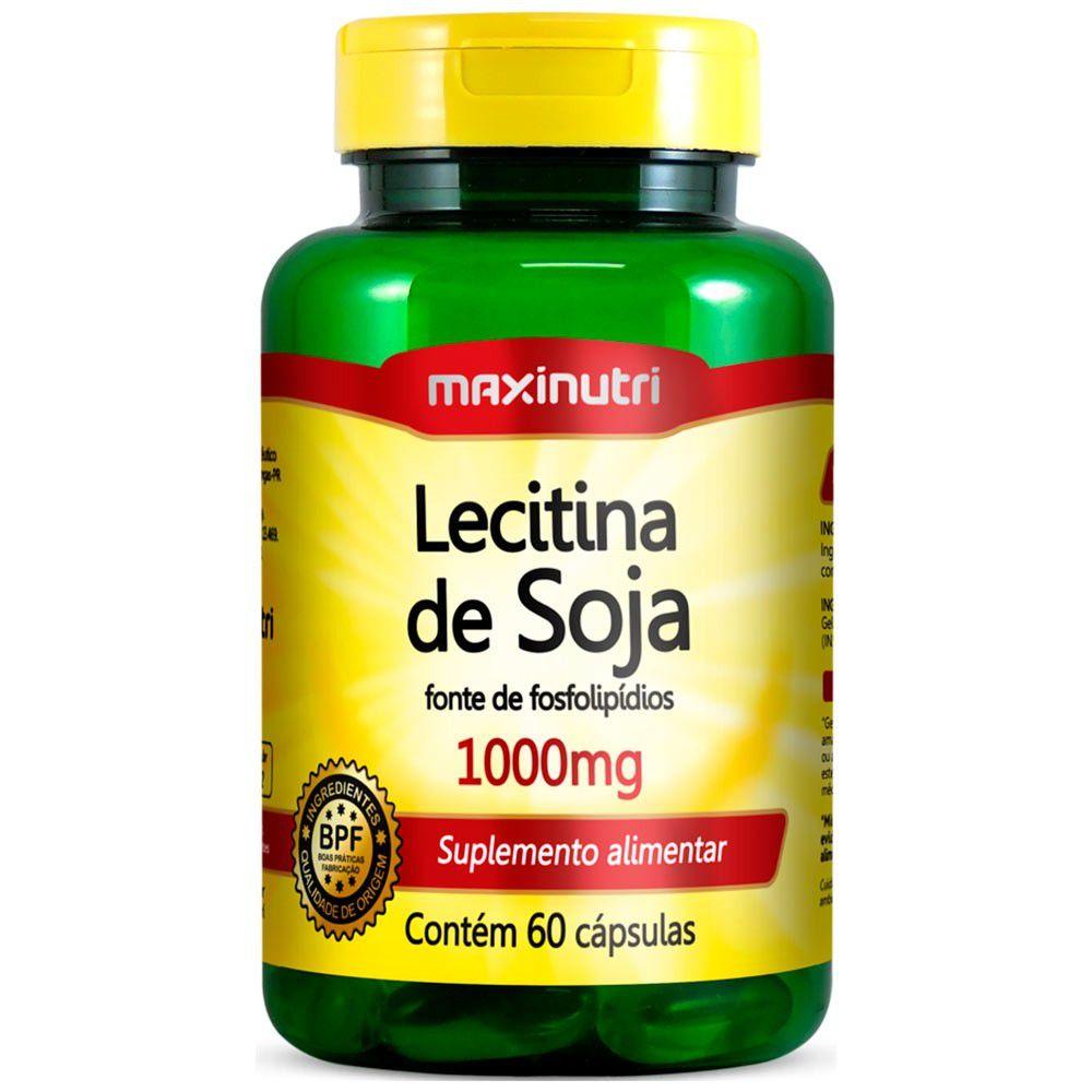 Lecitina de Soja 1000mg 60 Cápsulas Maxinutri
