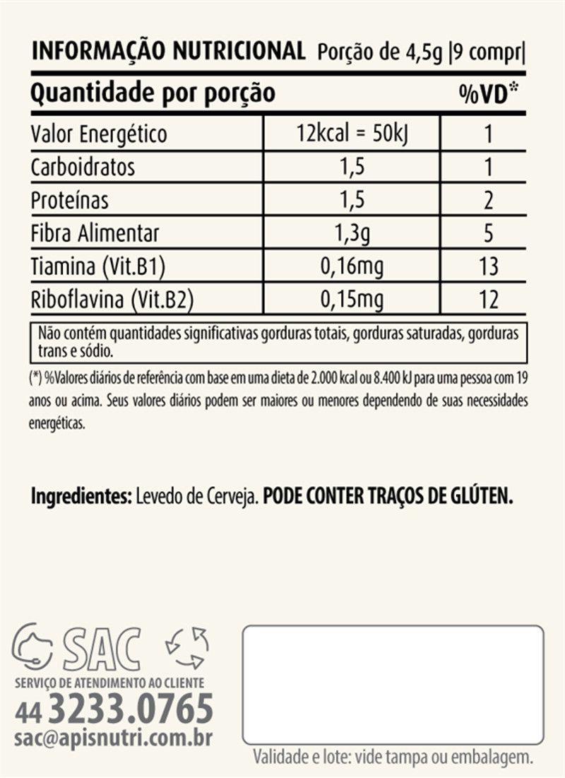 Levedo de Cerveja 400 Comprimidos Apisnutri