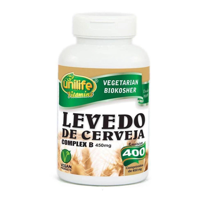 Levedo de Cerveja Complex B 400 Comprimidos Unilife
