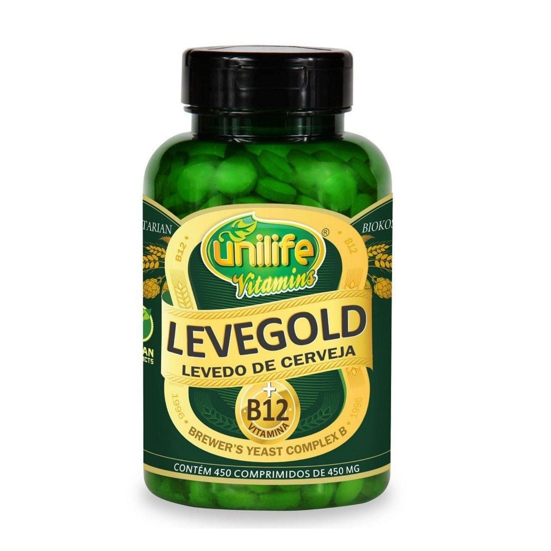 Levegold Levedo de Cerveja + Vitamina B12 450 Comprimidos Unilife