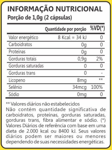 Licopeno + Selênio 60 Cápsulas Maxinutri