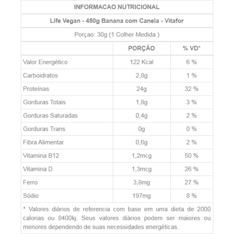 Life Vegan 450g Vitafor Proteína Vegana